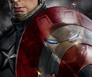 captain america, civil war, and iron man image