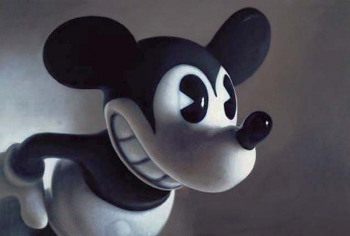 creepy, heln wein, and mickey mouse image