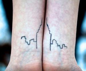 tattoo, city, and skyscraper image