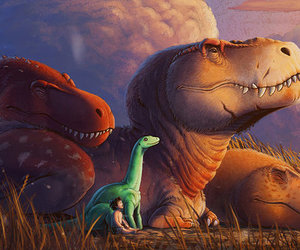 disney, spot, and t-rex image