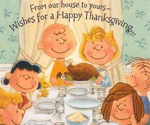 thanksgiving, family, and peanuts image