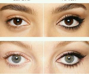 eyes, fashion, and make image