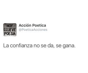 confianza, accion poetica, and ganar image