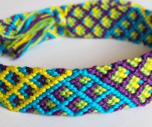 bracelets, braided, and colorful image