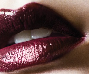 lips, makeup, and red image