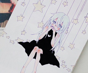 anime, stars, and drawing image