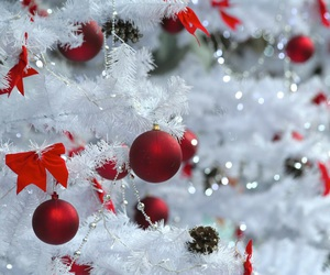 christmas, red, and white image