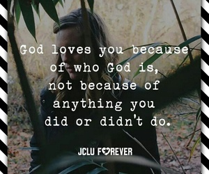 forever, god, and love image