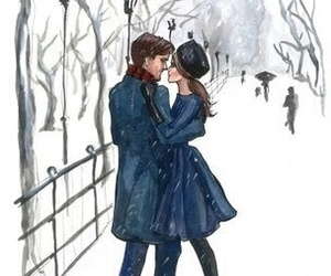 couple, art, and winter image