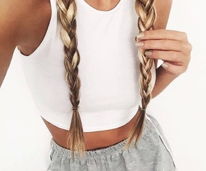 hair, braid, and style image