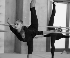 ballet, training, and rhytmic gymnastic image