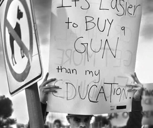 education, gun, and quote image