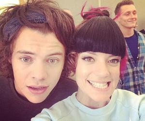 Harry Styles, one direction, and lily allen image