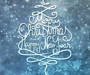 wallpaper, happy new year, and merry christmas image