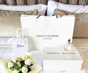 fashion, dior, and flowers image