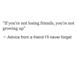 quotes, friends, and advice image