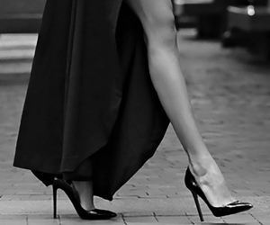 heels, dress, and legs image