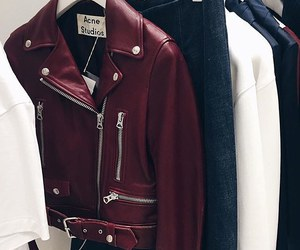 jacket, red, and white image