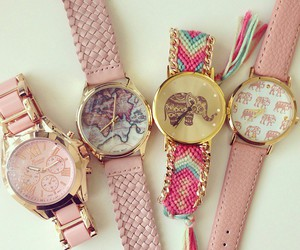 pink, watch, and accessories image