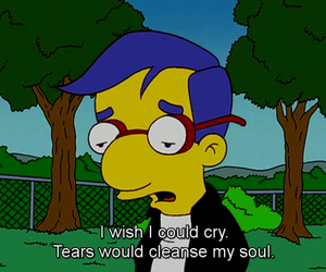 cry, sad, and simpsons image