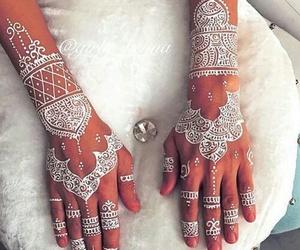 henna and white image