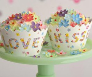 colorful, dessert, and cupcakes image