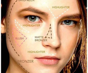 makeup, contouring, and face image