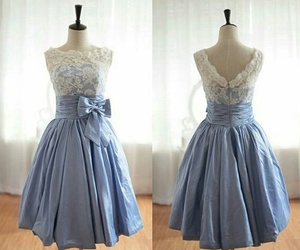 dress, vintage, and blue image