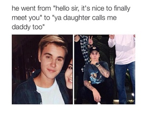 funny, daddy, and justin bieber image