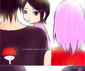 itachi, naruto, and sakura image