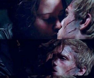 kiss, katniss everdeen, and the hunger games image