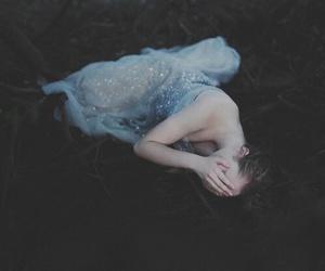 girl, dress, and sad image