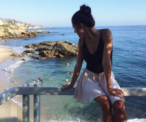 brunette, travel, and fashion image