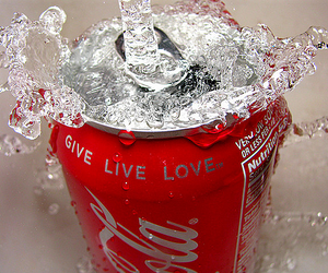 coca cola, drink, and love image