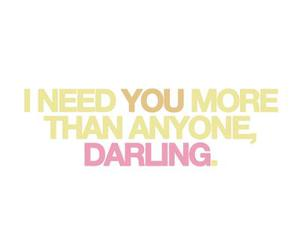 text, darling, and love image