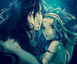 gajeel, levy, and fairy tail image