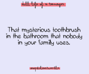 quote, toothbrush, and family image