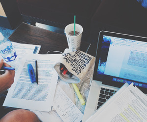 studying, book, and notes image