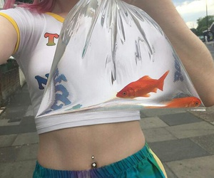 pale, aesthetic, and fish image