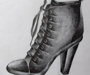 drawing, shoe, and ariana art image