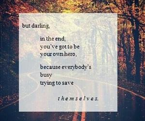 quote, hero, and autumn image