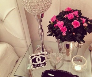 chanel, flowers, and rose image
