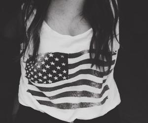usa, girl, and black and white image