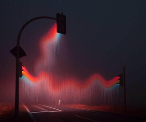 light, grunge, and red image