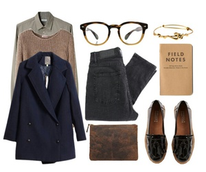 college, nerd, and outfit ideas image