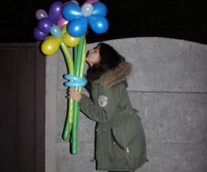 balloons, black, and girl image