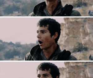maze runner, bloopers, and thomas image