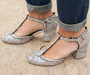 glam, sparkly, and heels image