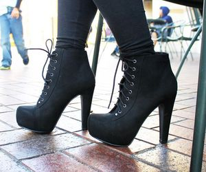 ankle boots, ankle booties, and black booties image