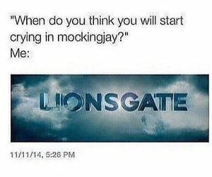 crying, hunger games, and fangirl image